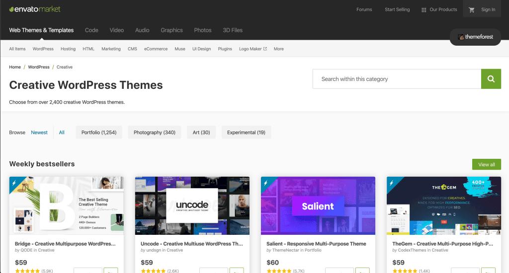 วิธีการใช้ search ในการค้นหา Theme บน Themeforest