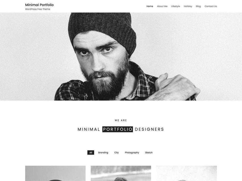 Minimal Portfolio - free wordpress theme