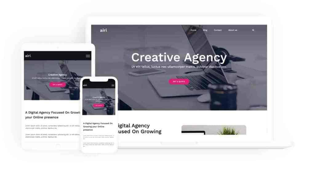 Airi - free portfolio wordpress theme