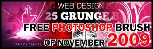 Free Photoshop Brushes November 2009