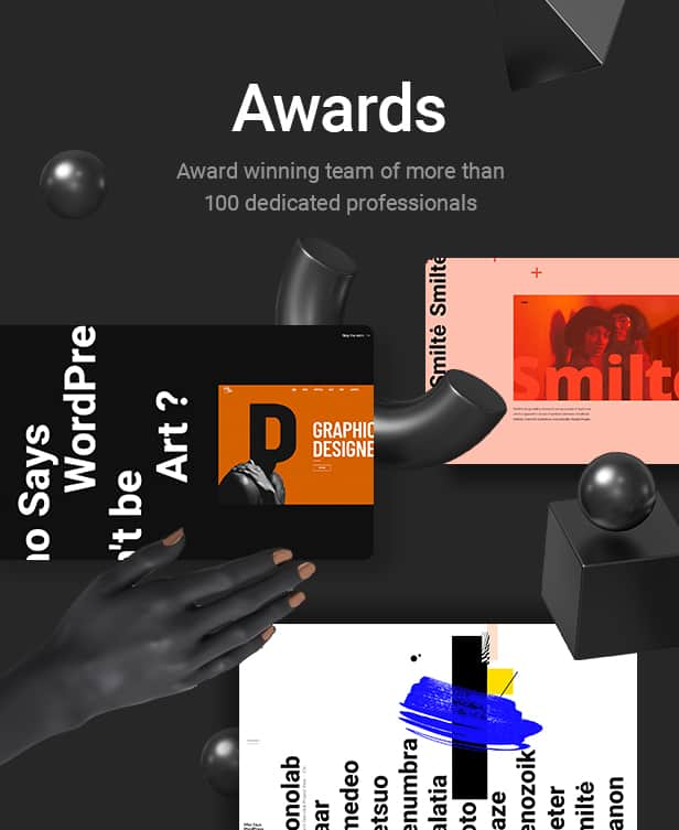Award Bridge web template